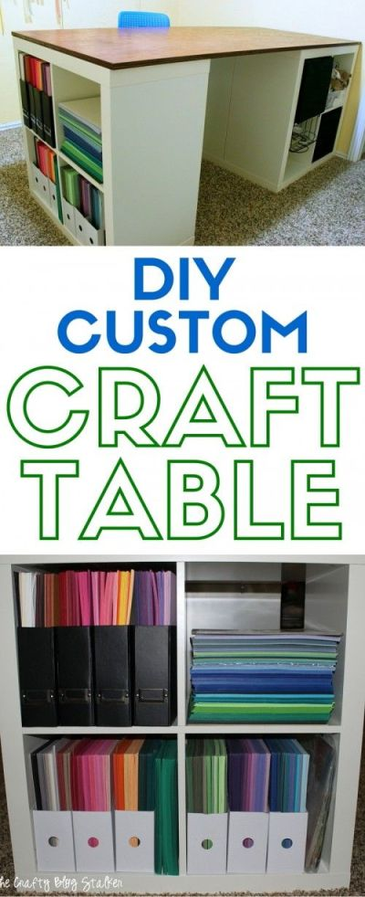 DIY Custom Craft Table