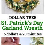5 Dollar Tree St Patrick S Day Garland Wreath February Pinterest Challenge
