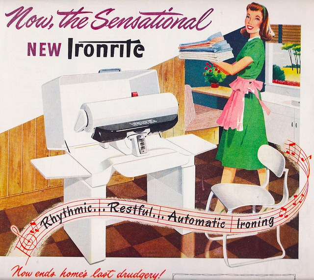 Ad -Ironrite Automatic Ironer 1948