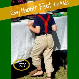 Lord of the Rings 1st Birthday Party … and How to Make Hobbit Feet