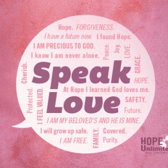 SPEAK LOVE this Valentine's Day