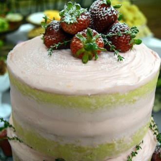 NAKED CAKE — for a church baby shower? Yes, please!