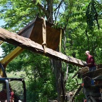 HIDDEN TREASURE:  Antique log cabin