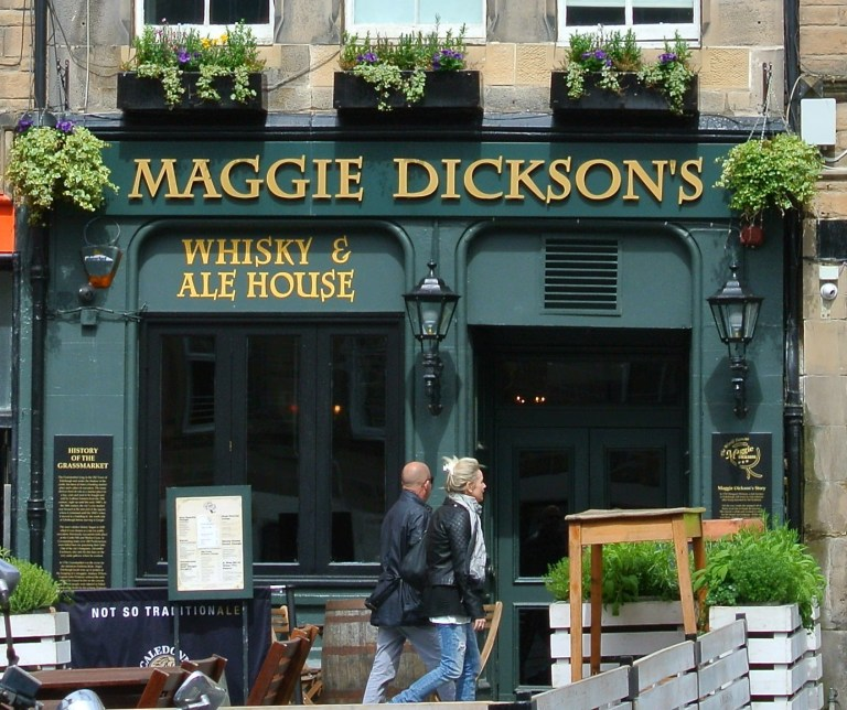 Maggie Dickson's Whisky and Ale House in Edinburgh, Scotland.