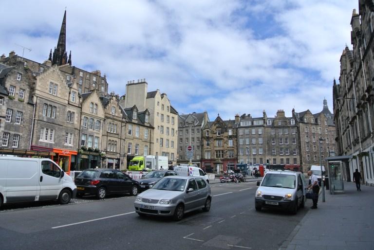The Grassmarket are in Edinburgh, Scotland.