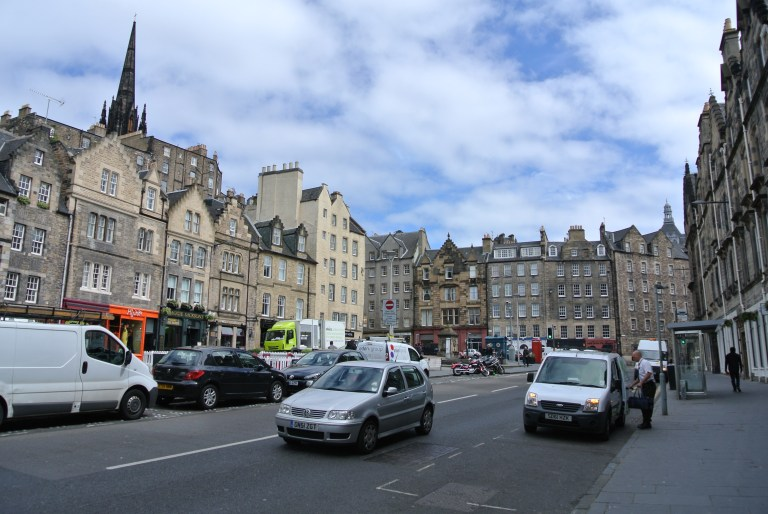 The Grassmarket are in Edinburgh, Scotland.