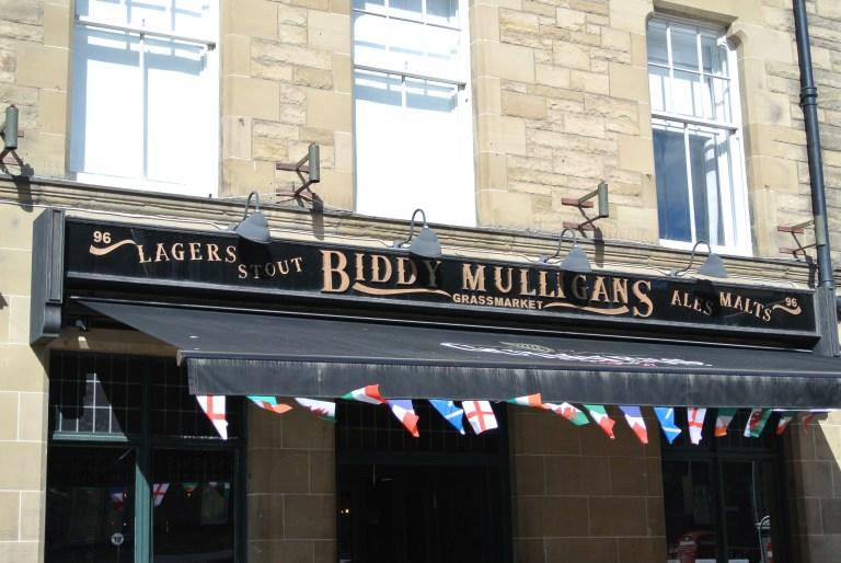 Biddy Mulligans restaurant in Edinburgh, Scotland.