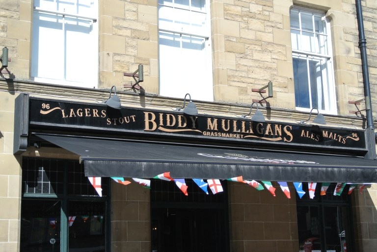 Biddy Mulligans restaurant in Edinburgh, Scotland.