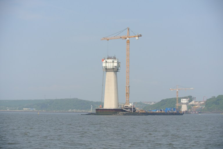 Queensferry Crossing being constructed.