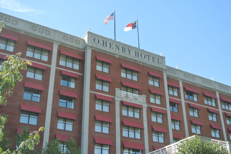 Exterior of the O'Henry Hotel.
