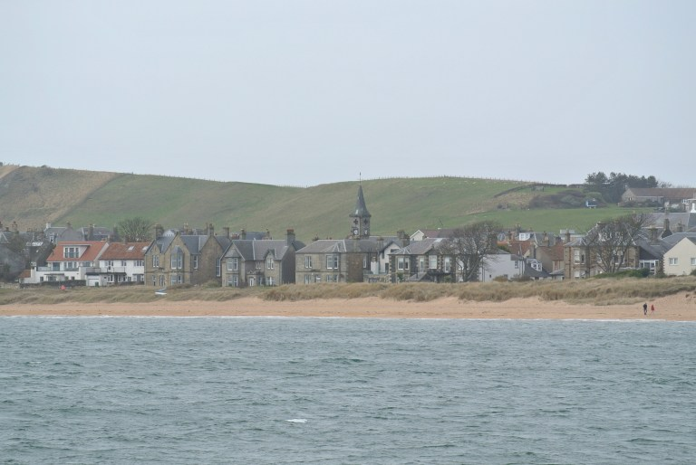 Beach front homes in Elie, Scotland.