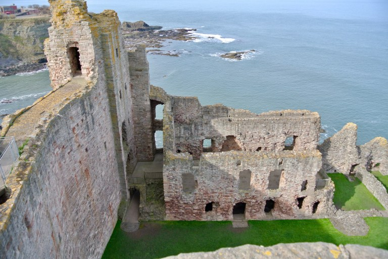 Tantallon Castle and the Firth of Forth.