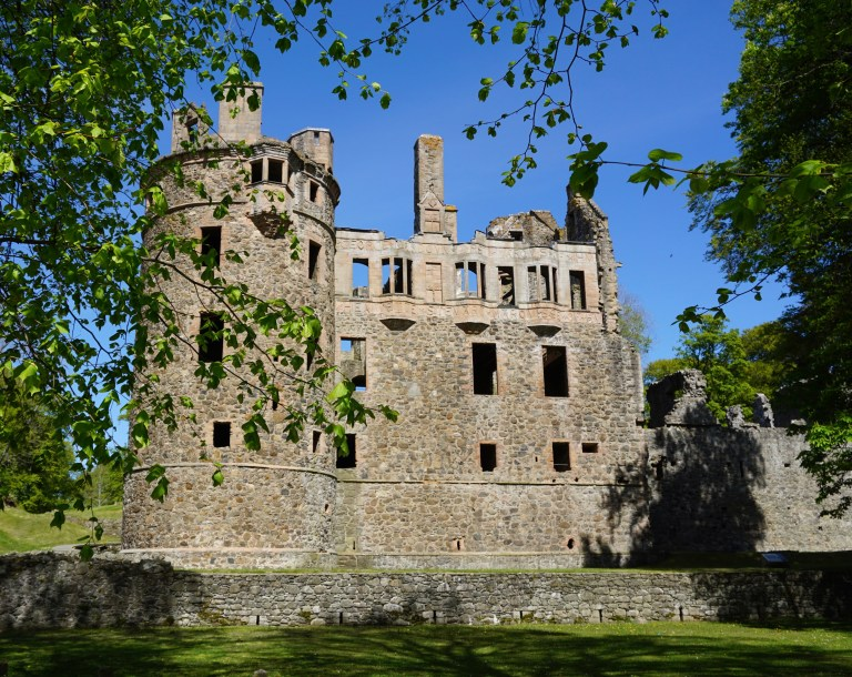 Huntly Castle in Scotland.