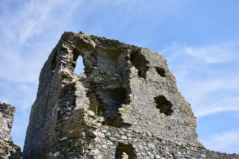 Auchindoun Castle ruin in Scotland.