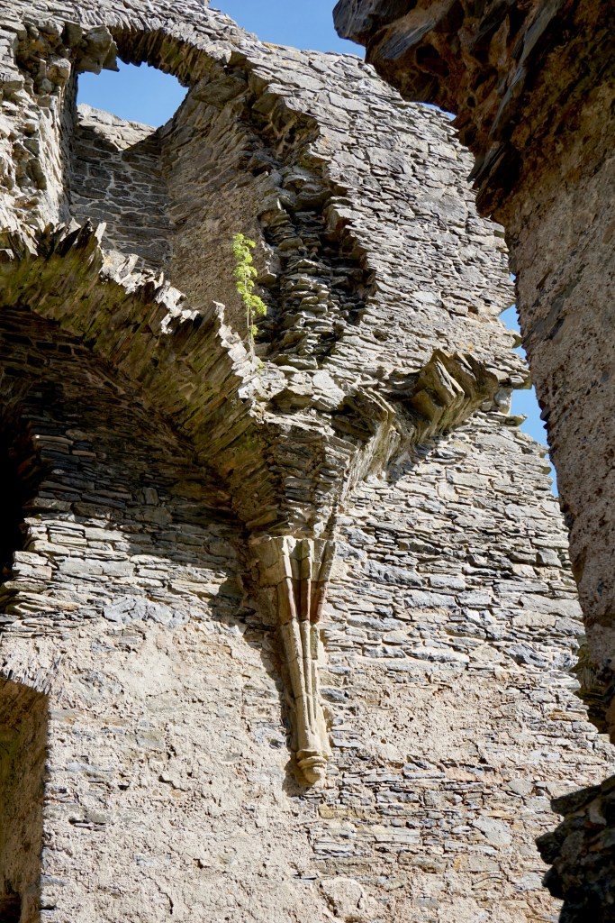 Architectural details that remain at Auchindoun Castle ruin.
