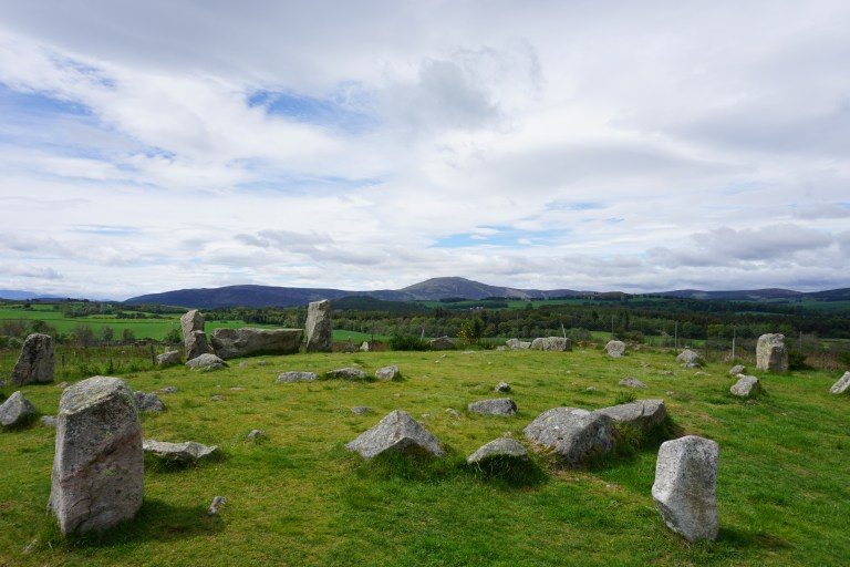 Tomnaverie Stone Circle in Scotland.