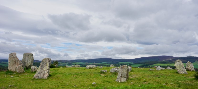 Tomnaverie Stone Circle in Aberdeenshire, Scotland