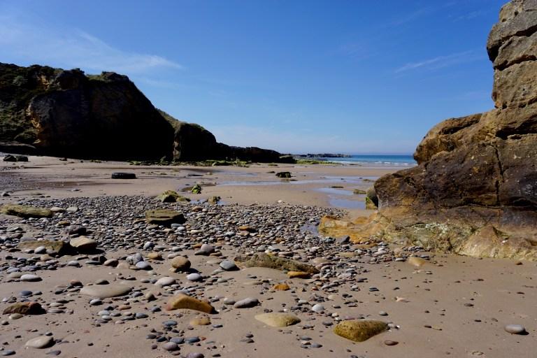 The beach at Cove Bay.
