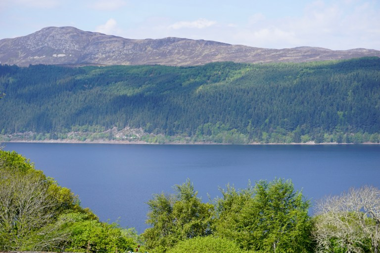 The blue waters of Loch Ness.