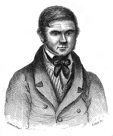An artist's drawing of William Burke.
