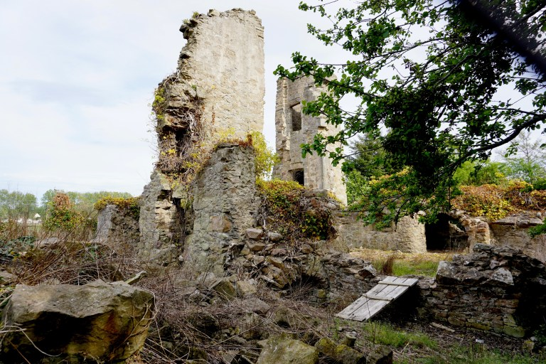 The Abbott's House ruins at Kinloss Abbey.