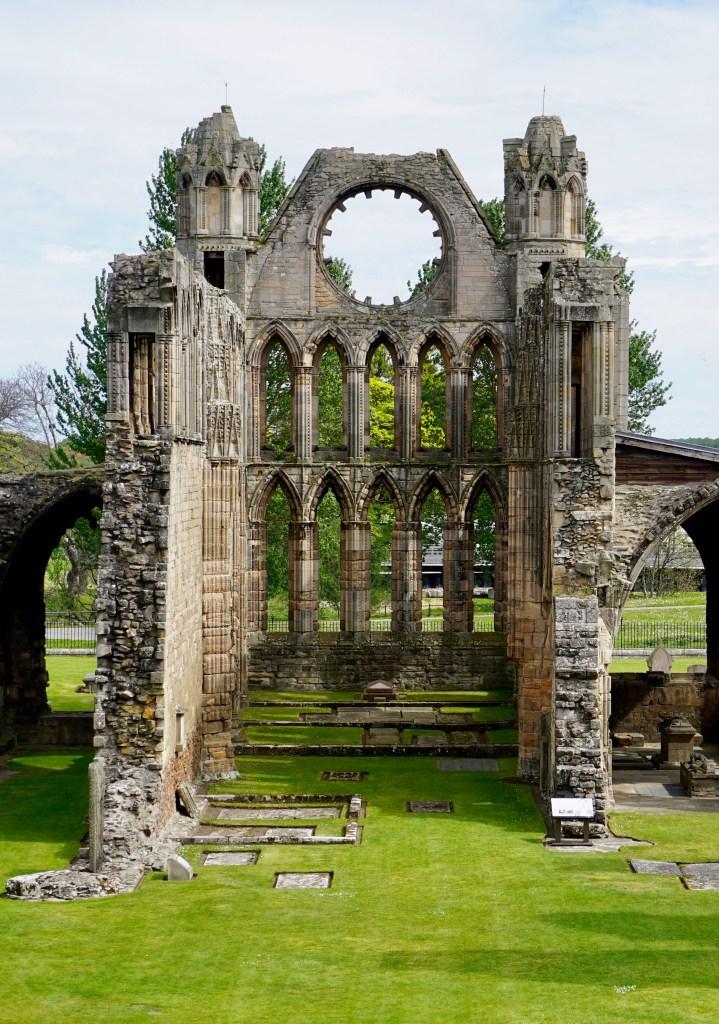 Elgin Cathedral ruins in Elgin, Scotland.