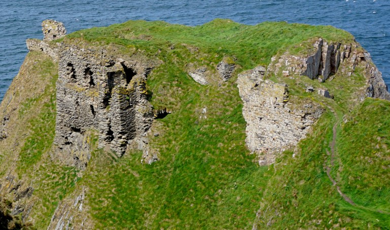Cliffside ruins of Findlater Castle.