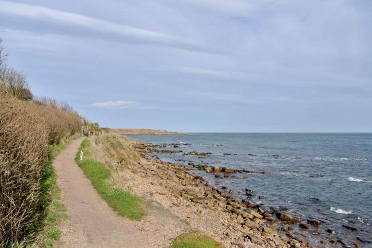 The Fife Coastal path in Crail, Scotland.
