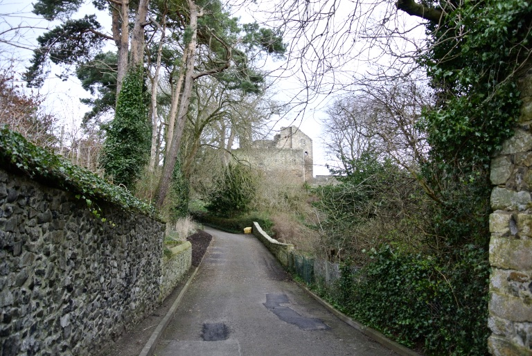 A road leading to Aberdour Castle.