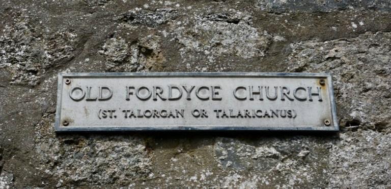 Old Fordyce Church sign.
