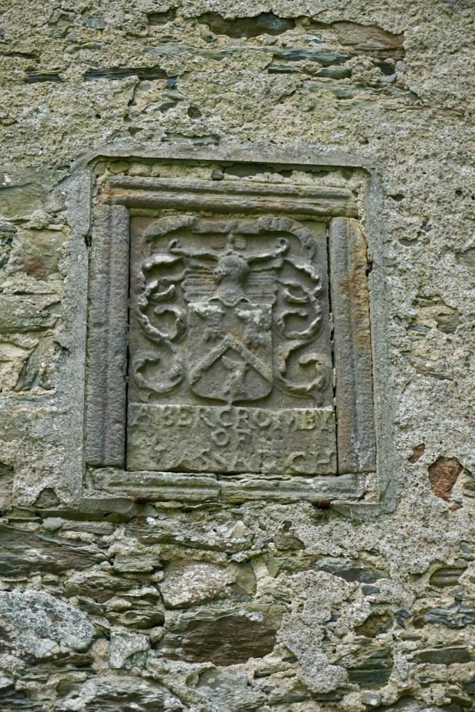 A stone plaque.