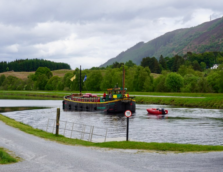 The Fingal of Caledonia on the Caledonian Canal