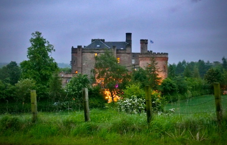 Dalhousie Castle at dusk