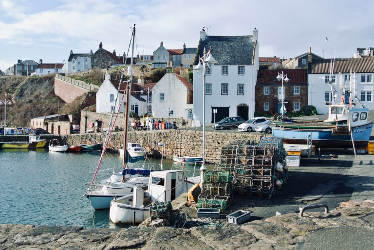Crail Harbor in Scotland