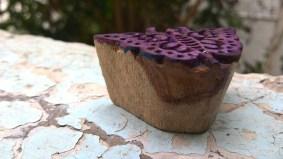 Butterfly motif wooden block