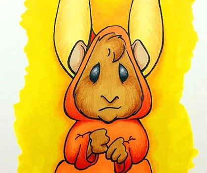Hamster in burny rabbit costume - 2015