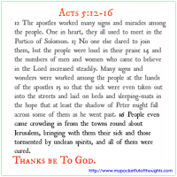 [Word of God] Acts 5: 12-16