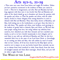 [Word of God] Acts 15: 1-2, 22-29