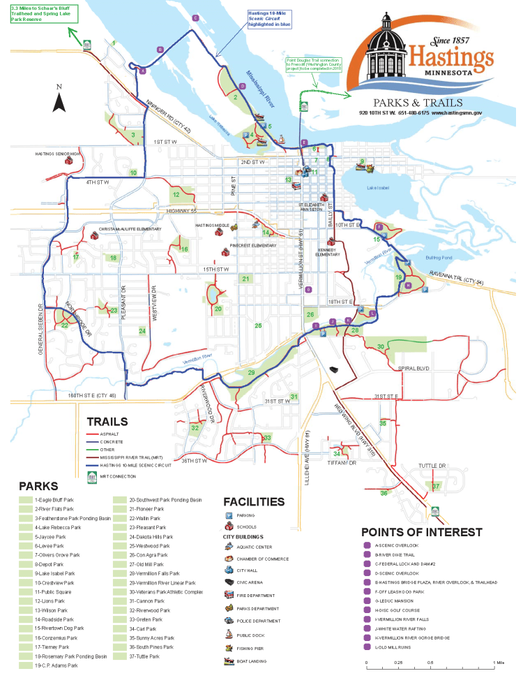 Map of Hastings Trail System