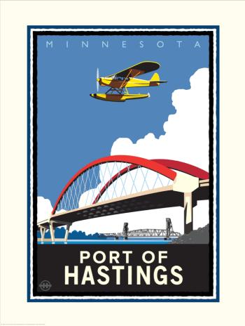 Hastings Bridge and Float Plane