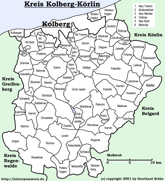 Kreis Kolberg-Körlin, Pomerania