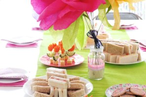 flower garden party themed birthday decorations