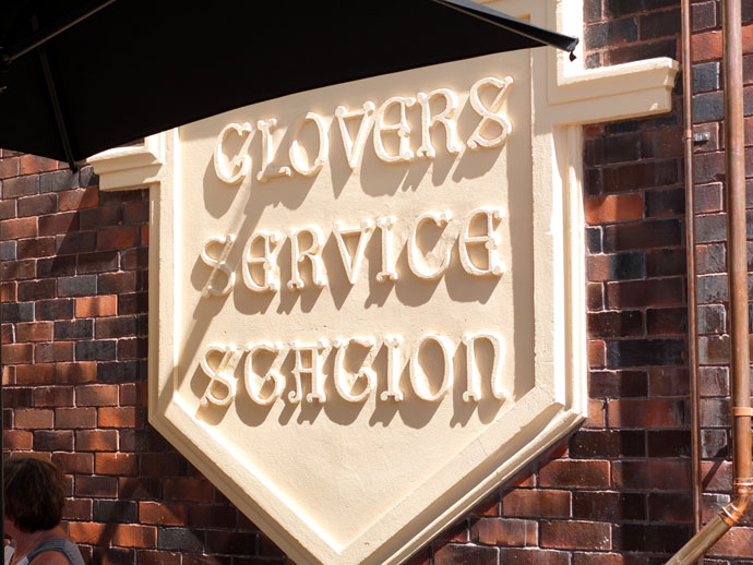 Glovers Station Sign