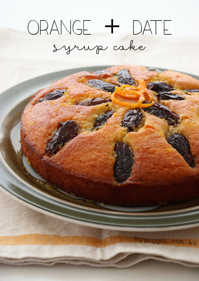 orange and date syrup cake recipe