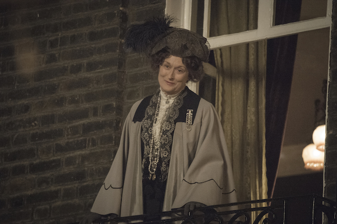 Meryl Streep as Mrs Pankhurst