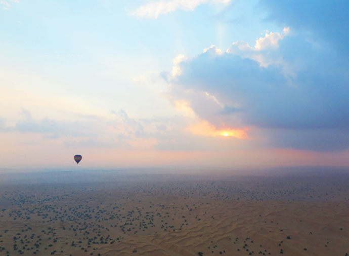 Sunrise - hot air balloon dubai