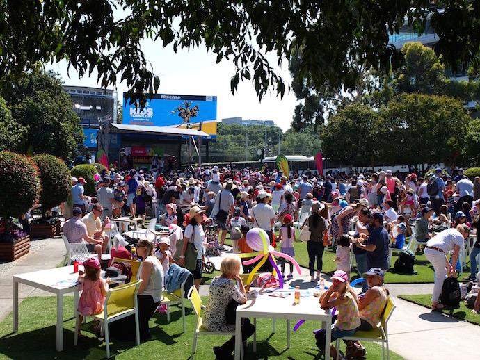 Australian Open kids tennis day