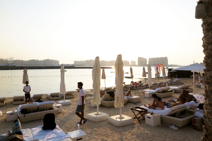 Eden beach club dubai - sunset