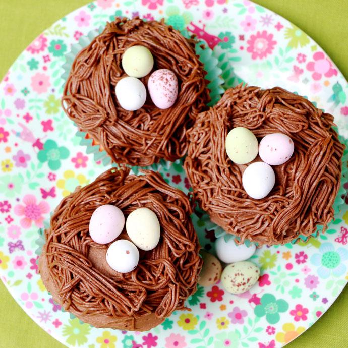 Bird's Nest Cupcake for easter