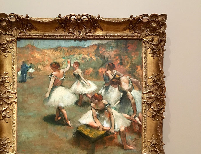 Edgar Degas Dancers on the stage c. 1899 oil on canvas